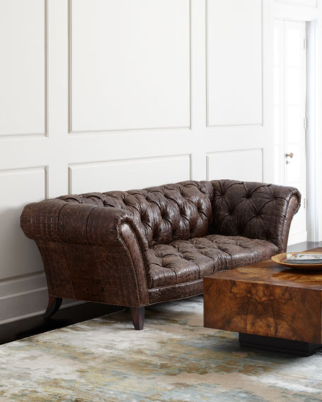 Old Hickory Tannery Fritz Tufted Leather Sofa