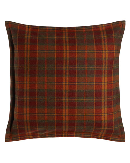 European Galloway Multicolored Plaid Sham