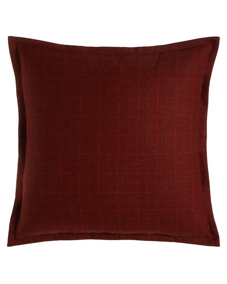 European New Castle Merlot Plaid Sham