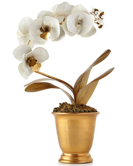 Gilded Potted Orchid