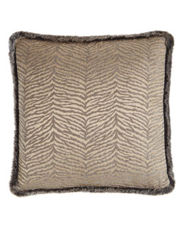 Ashanti Faux-Fur Trimmed Pillow