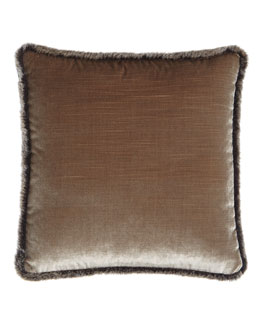 Velda Faux-Fur Trimmed Pillow