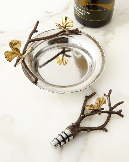 Butterfly Gingko Wine Stopper