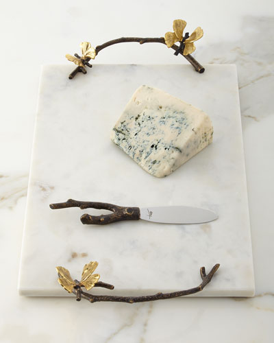 Butterfly Gingko Cheese Board with Knife