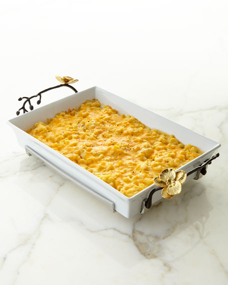 Gold Orchid Casserole Dish
