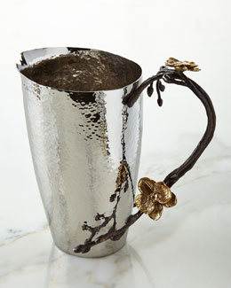 Gold Orchid Pitcher