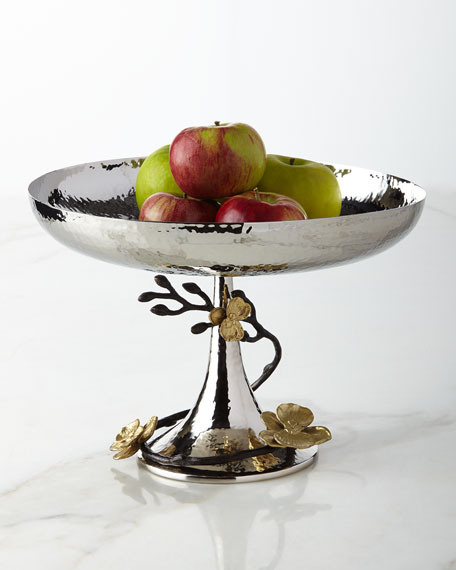 Michael Aram Gold Orchid Footed Centerpiece Bowl