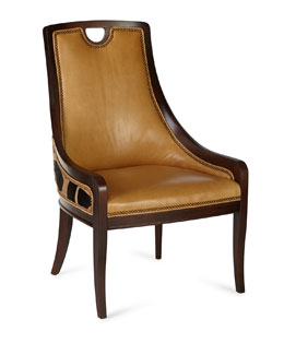 Domino Leather Dining Chair