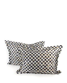 Courtly Check Standard Shams, Set of 2
