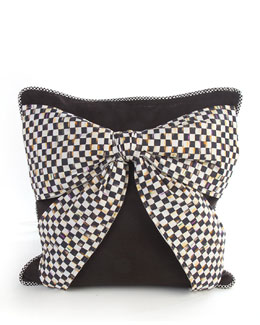 Black Bow Pillow