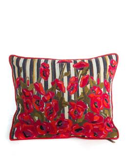 Poppy Garden Lumbar Pillow, 15