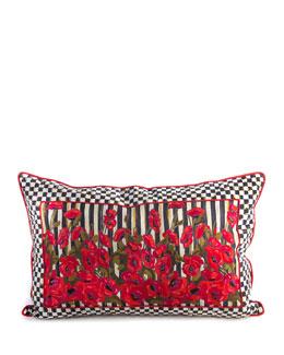 Poppy Garden Lumbar Pillow, 28