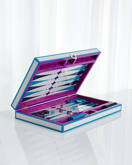 Purple Backgammon Set