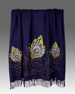 Peacock Feather Throw