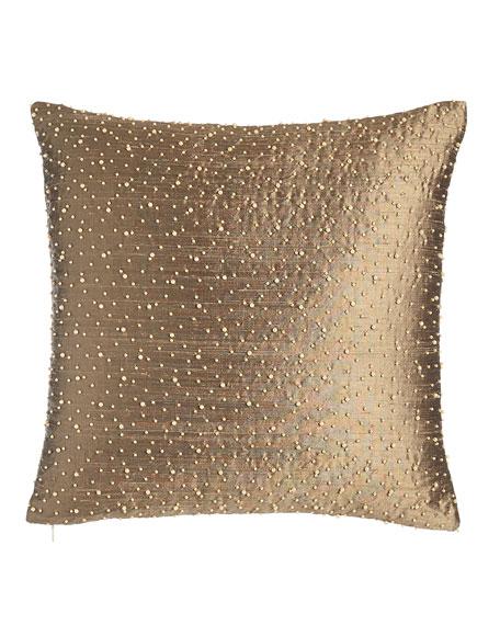 "Vienna Beaded Pillow, 17""Sq."