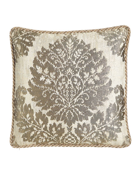 "Reversible Vienna Pillow, 20""Sq."