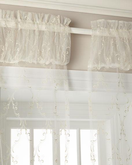 "60""W x 108""L Cameo Lace Curtain"