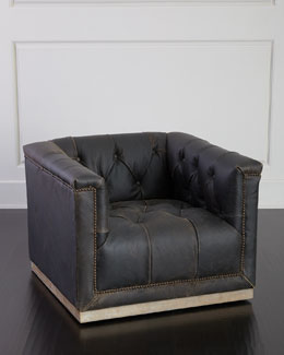 Charles Swivel Leather Chair
