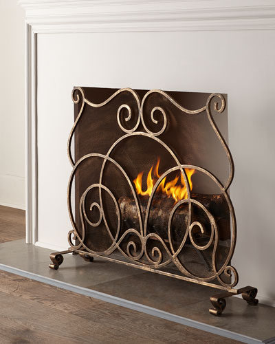Lyrical Fireplace Screen