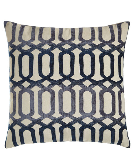 "Brody Lattice Pillow, 24""Sq."