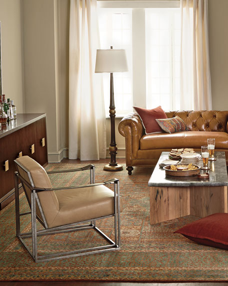 Declan Tan Leather Chair