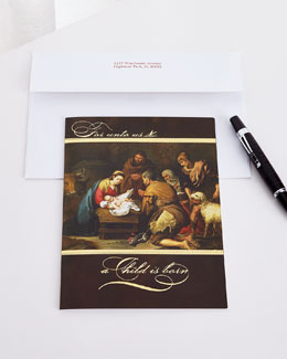 25 Adoration of Shepherds Cards with Plain Envelopes