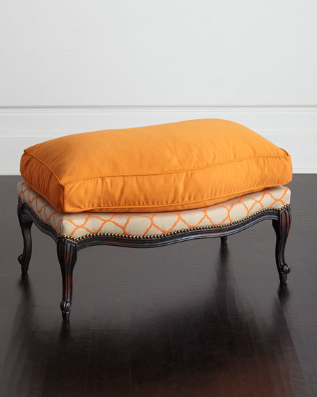 Old Hickory Tannery Clementine Bergere Ottoman