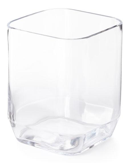 Clear Glass Wastebasket