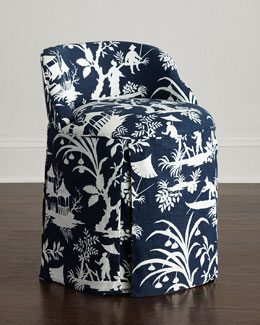 Midnight Lake Vanity Seat