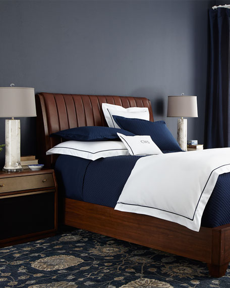 Longfellow Queen Leather Bed