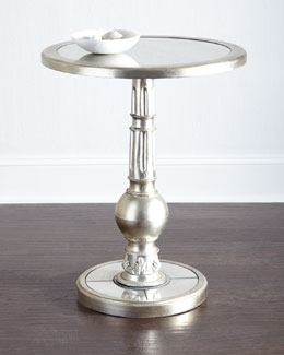 Freda Glass-Top End Table