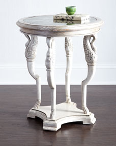 Lorin Mirror-Top End Table