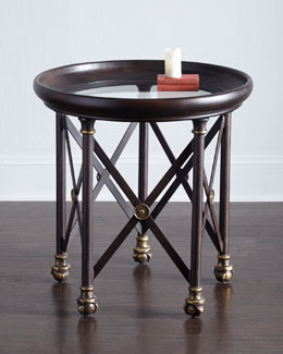 Blake Glass-Top Side Table