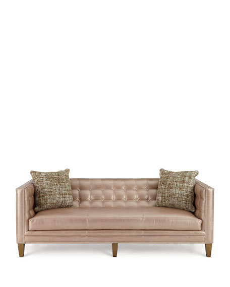 Rosalind Leather Sofa 76""