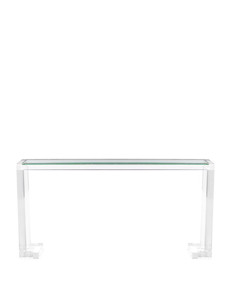 acrylic console table uk ikea cb2
