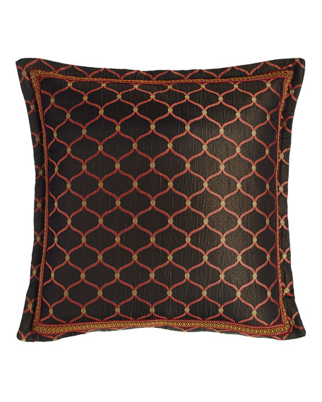 "Royale Flanged Ogee Pillow, 18""Sq."