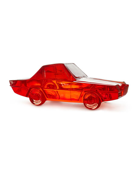 Red Acrylic Car Sculpture