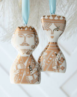 King & Queen Ornament Set
