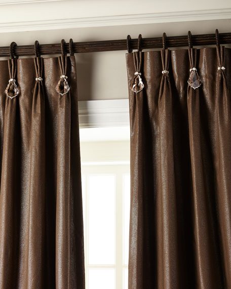 "108""L Shimmer Curtain with Asfour Crystals"