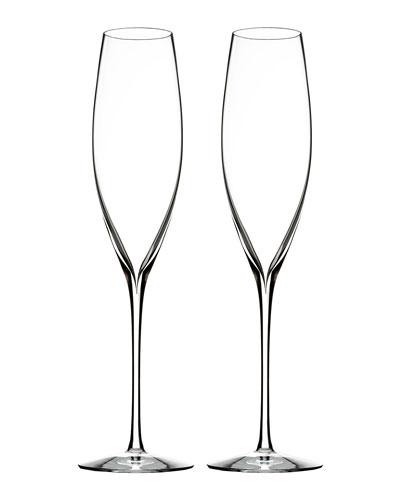 Elegance Champagne Flutes  Set of 2