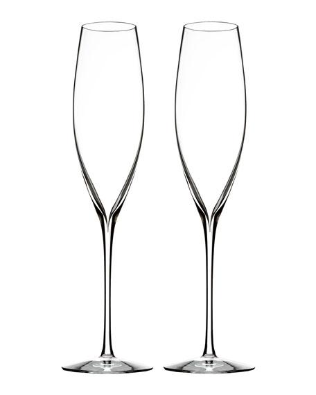 Elegance Champagne Flutes, Set of 2