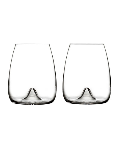 Elegance Stemless Wine Glasses  Set of 2