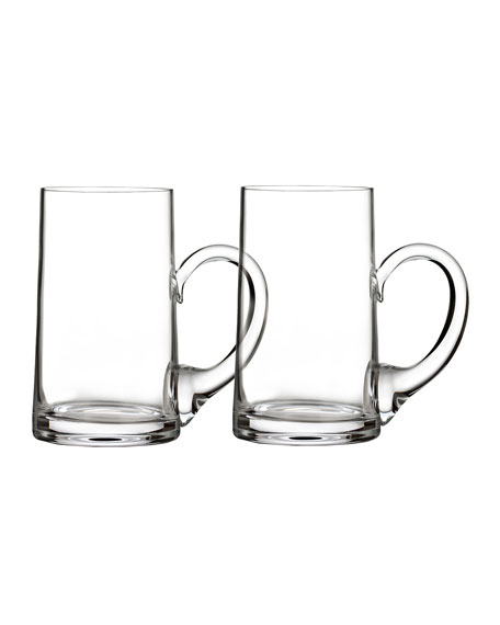 Waterford Crystal Elegance Beer Mugs, Set of 2