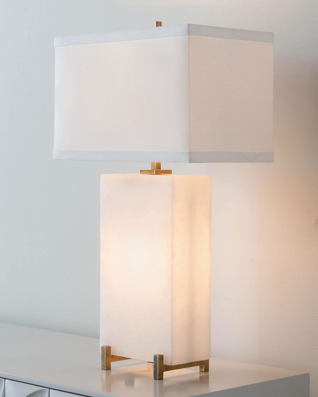 John Richard Collectionalabaster Block Table Lamp