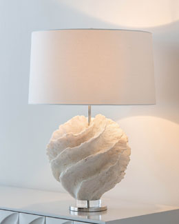 Rustic Spiral Table Lamp