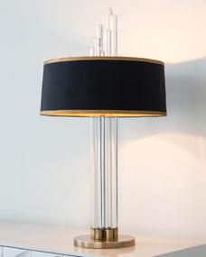 John-Richard Collection Graduating Crystal Columns Lamp