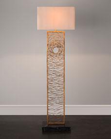 John-Richard Collection Gold Vortex Floor Lamp