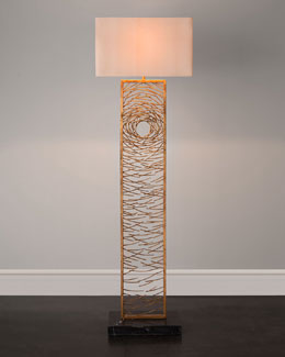 Gold Vortex Floor Lamp