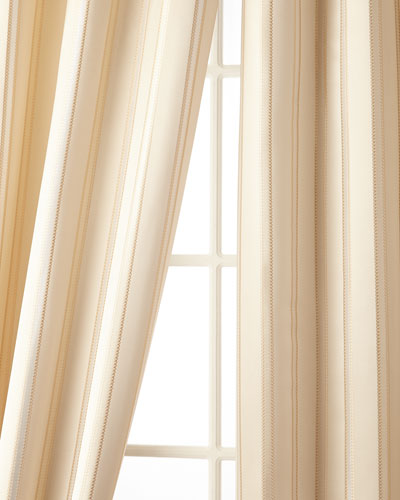 52W x 108L Charlotte Striped Curtain
