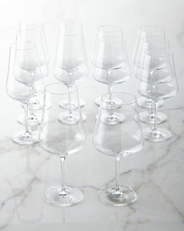 Tristan Crystal Wine Glasses, 12-Piece Set